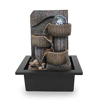 Rum fontän Bord fontän FoTino antikbrun Ledde 26 cm 10973