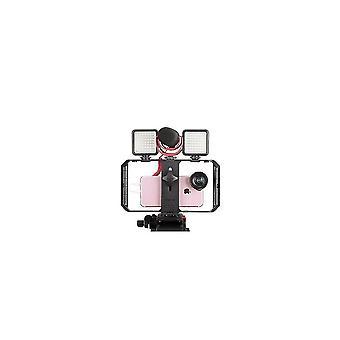 Computer racks mounts u-rig pro 3 shoe mount smartphone video rig filmmaking handheld stabilizer grip with fill light
