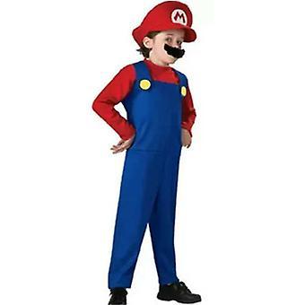 Supermario Vízvezeték-szerelő Bros Boy Jelmez Cosplay ruhák