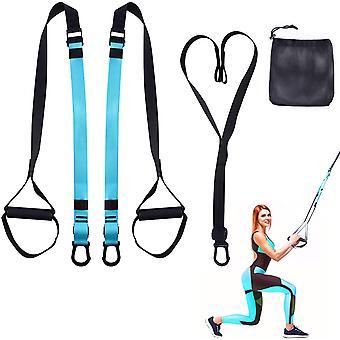Suspension Strap Übungsgurte Fitness Stretch Workout Kit für Home Gym, mit Ankerverlängerungsgürtel, Muskelaufbau Trainingskit