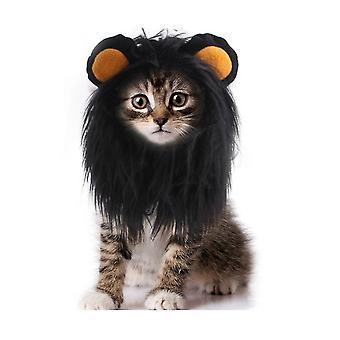 Leijona mane peruukki kissa puku lemmikki säädettävä pestävä