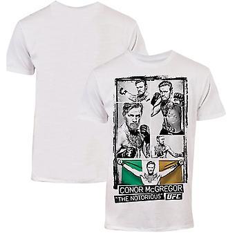 UFC Conor McGregor Image Collage T-Shirt - White