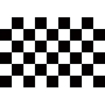 5ft x 3ft Flag - Chequered - black and white