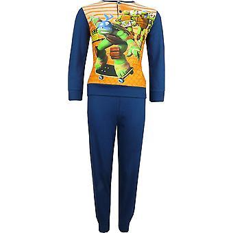 Jungen Nickelodeon Ninja Turtles Langarm Pyjama Set verpackt im Feld