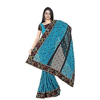 Bhagwanti  Georgette Indian Sari saree with Embroidery