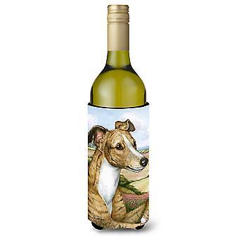 Lurcher par Debbie Cook bouteille de vin boisson isolateur Hugger