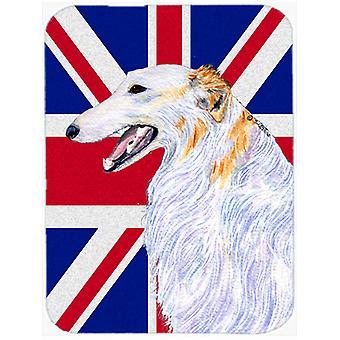 Barzoï avec anglais Union Jack drapeau britannique verre coupe Conseil grande taille
