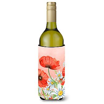 Poppies and Chamomiles Wine Bottle Beverge Insulator Hugger