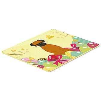 Carolines Treasures  BB6115CMT Easter Eggs Fawn Boxer Kitchen or Bath Mat 20x30
