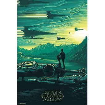Star Wars The Force herää - Jakku Sunrise juliste Juliste Tulosta
