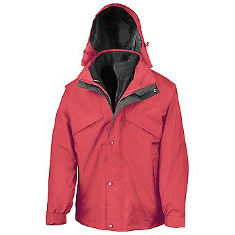 Result Mens 3 in 1 Waterproof and Windproof Jacket with Zip Out Fleece