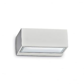 Ideell Lux utendørs Twin hvite veggen lys Block Wall vaskemaskin
