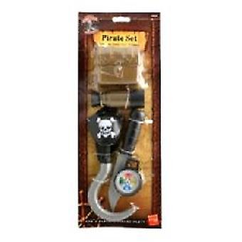 Piraten Set - Haken - Messer - Kompass - Patch (Anzahl 1)