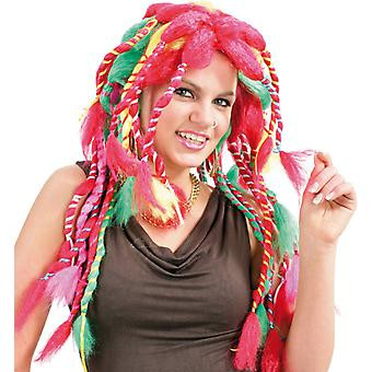 Sally, multicolores poil long brins roses de dreadlocks