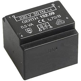 Gerth PT201501 PCB mount transformator 1 x 230 V 1 x 15 V AC 0,50 VA 33 mA