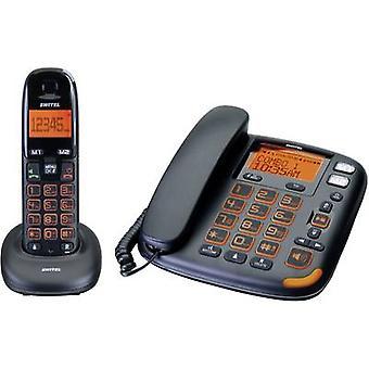 Switel Vita DCT 50072 kombi Cordless duży przycisk rąk, Visual wywołania powiadomienia, automatycznej sekretarce podświetlany Black