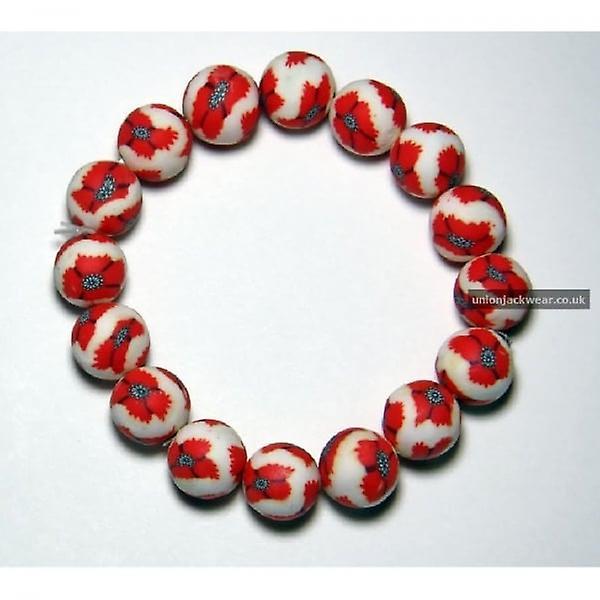 Union Jack Wear Poppy Fimo Bracelet