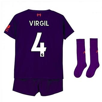 2018-2019 Liverpool Away Little Boys Mini Kit (Virgil 4)