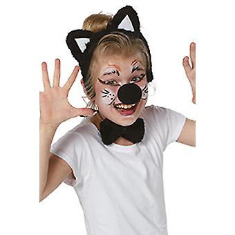 Cats set children 3pcs cat ears nose fly cat kids costume Carnival