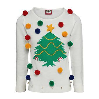 Christmas Shop Womens/Ladies Christmas Tree 3D Jumper
