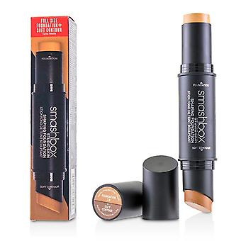Smashbox Studio Skin Shaping Foundation + Soft Contour Stick - # 3.0 Warm Beige - 11.75g/0.4oz