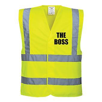 Hi Viz Yellow Vis västar Boss