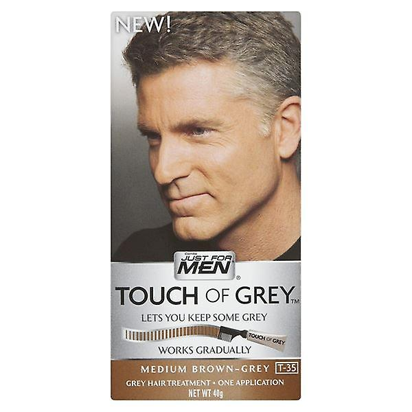 Touch Of Grey Mens Hair Treatment  - Brown Grey T35