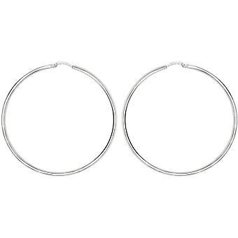 Bella 25mm Hoop Earrings - Silver
