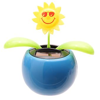 Sunflower Solar Pal Neuheit Ornament, blau