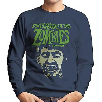 Hammer The Plague Of The Zombies Face Poster Men's Sweatshirt
