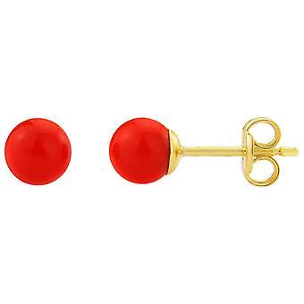 Mark Milton Stud Earrings - Red/Gold