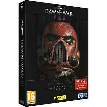 Warhammer 40,000 Dawn of War III Limited Edition PC DVD spil (ikke-engelsk boks)