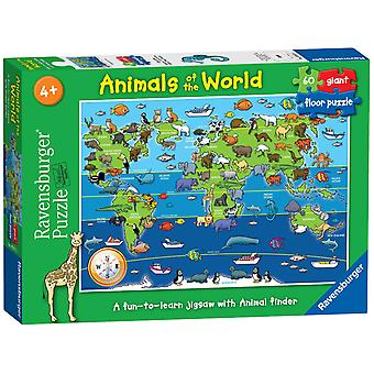 Ravensburger Puzzle Animals of the World Giant Floor Puzzle 60 piece