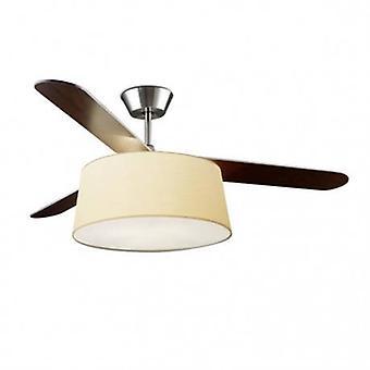 3 licht plafondventilator Satijn nikkel