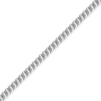 Jewelco London Sterling Silver 4mm Gauge Curb Chain