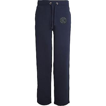 Small Arms School Embroidered - Licensed British Army Embroidered Open Hem Sweatpants / Jogging Bottoms