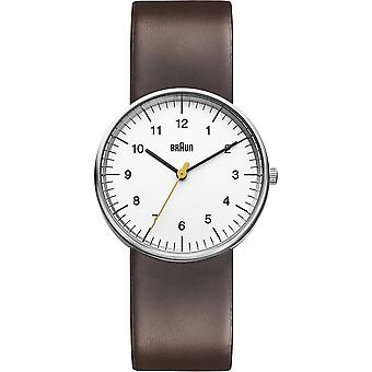 Braun classic gent Japanese Quartz Analog Man Watch with BN0021WHBRG Synthetic Leather Bracelet