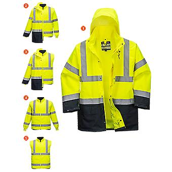 Portwest essential hi vis 5-in-1 jacket s766
