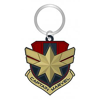 PVC Key Chain - Captain Marvel Logo Soft Touch New 69028