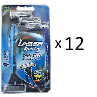 Tripple Blade Razor 48x Laser Sport3 pour Hommes