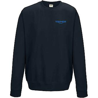 Triumph Motorrad Biker bestickt Logo - Sweatshirt