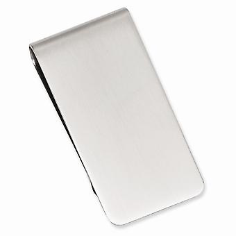 Solid Gift Boxd Ggravável Rhodium banhado Satin Retangle Money Clip Joias Presentes para Homens