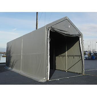 Storage shelter PRO XL 4x10x3.5x4.59 m, PE, Grey
