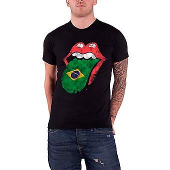 Rolling Stones Brasilien flagga tungan nya officiella Mens T shirt