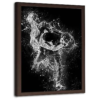 Picture In Brown Frame, Judo Fight 2