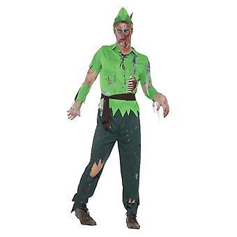 Mens Zombie Lost menino Hallowen fantasia vestido traje