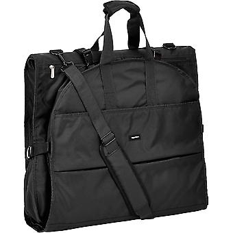 AmazonBasics Premium Tri-Fold Travel Hanging Garment Bag -, Black, Size No Size