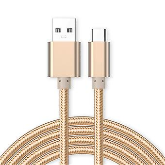 Kit Me Out Micro USB, 3.1 Amp Fast Charge Nylon Braided Cable 1M 2M 3M Compatible with Huawei P10 Lite, Charging Data Sync Cable Lead Cord, 1 2 3 Metre