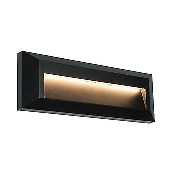 Saxby belysning Severus integrerad LED 1 ljus Utomhus vägg ljus svart ABS plast, klar IP65 61214