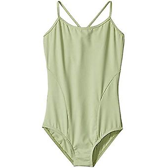 Capezio Girls' Little (2-6X) Diamond Strappy V-Back Leotard, Aloe Green, Inte...